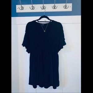 V neck top with cinched waist